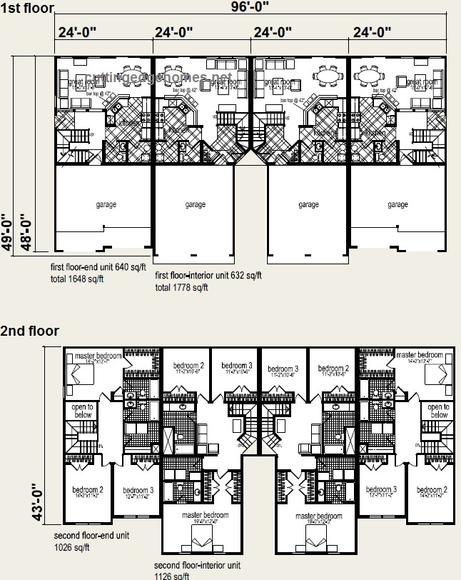 4 plex house plans fourplex 4 plex plans home plans Fourplex apartment plans