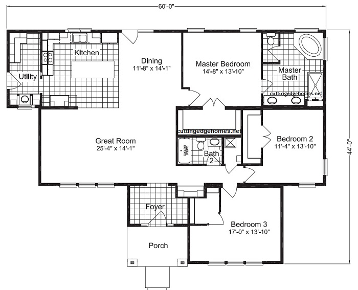 Deschutes 3br 2ba 2107 sq ft cutting edge export for 3br 2ba floor plans
