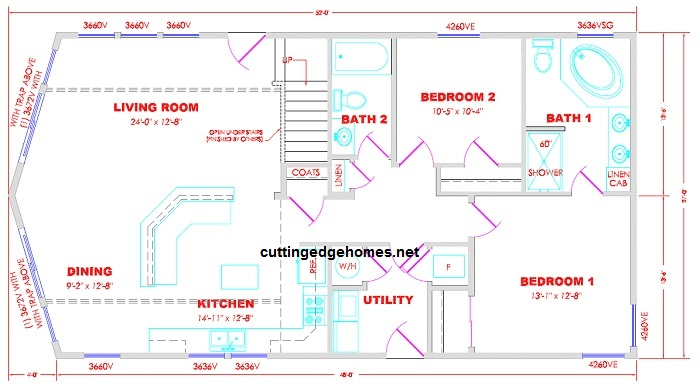 Mammoth Cabin 2br 2ba 1350 sq ft Cutting Edge Export