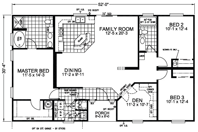 Ocotillo 3br 2ba 1529 sq ft cutting edge export for 3br 2ba floor plans