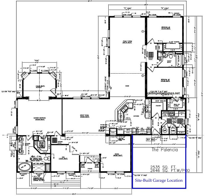 Palencia with pod 3br 2ba 2646 sq ft cutting for 3br 2ba floor plans