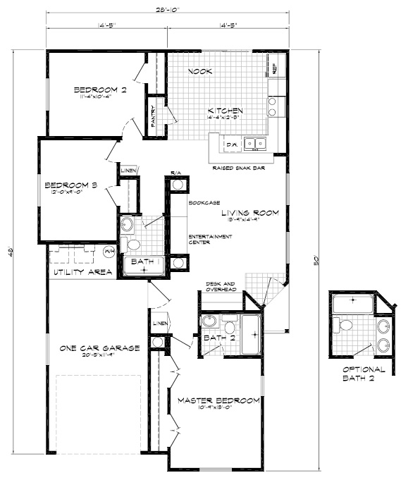 Sausalito 3br 2ba 1363 sq ft cutting edge export for 3br 2ba floor plans