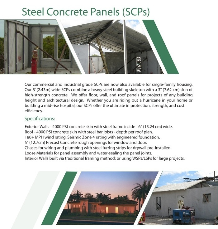 Steel Panels Concrete (SCPs)