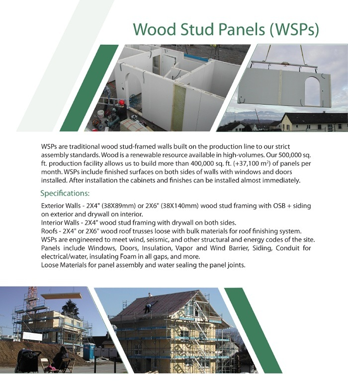 Stud (WSPs) Panels Wood